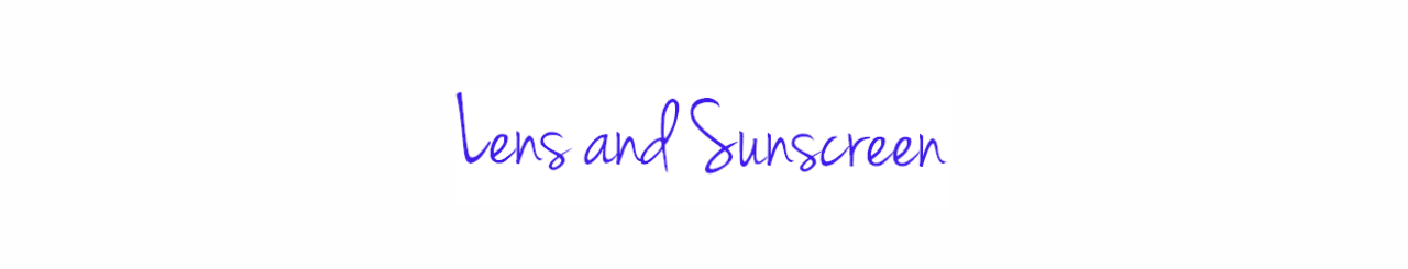 lens and sunscreen